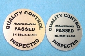 QC - Quality Control Safe Repair Labels - 2/ea Brass & Aluminum